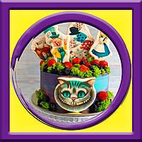"""Торт """"Чеширский кот"""" на детский день рождения, фото 1"""