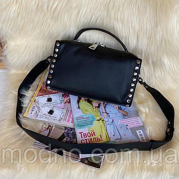 Женская кожаная сумка с заклёпками Polina & Eiterou