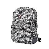 Рюкзак городской светоотражающий YES R-02 Agent Reflective серый код: 558518, фото 2