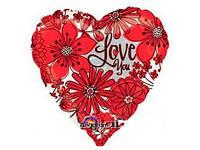 Гелиевые сердца из фольги на 8 марта
