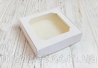 Коробка для солодощів 150*150*30 біла