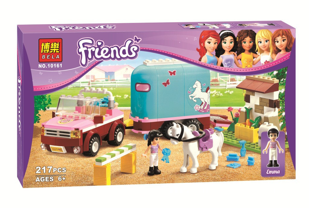"""Конструктор """"Friends"""" - Эмма и трейлер для её лошадки"""