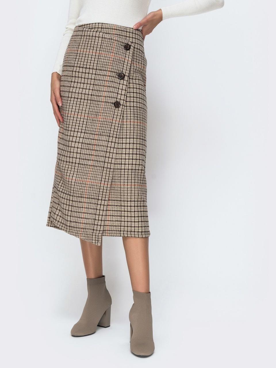 Купить Женская юбка коричневого цвета