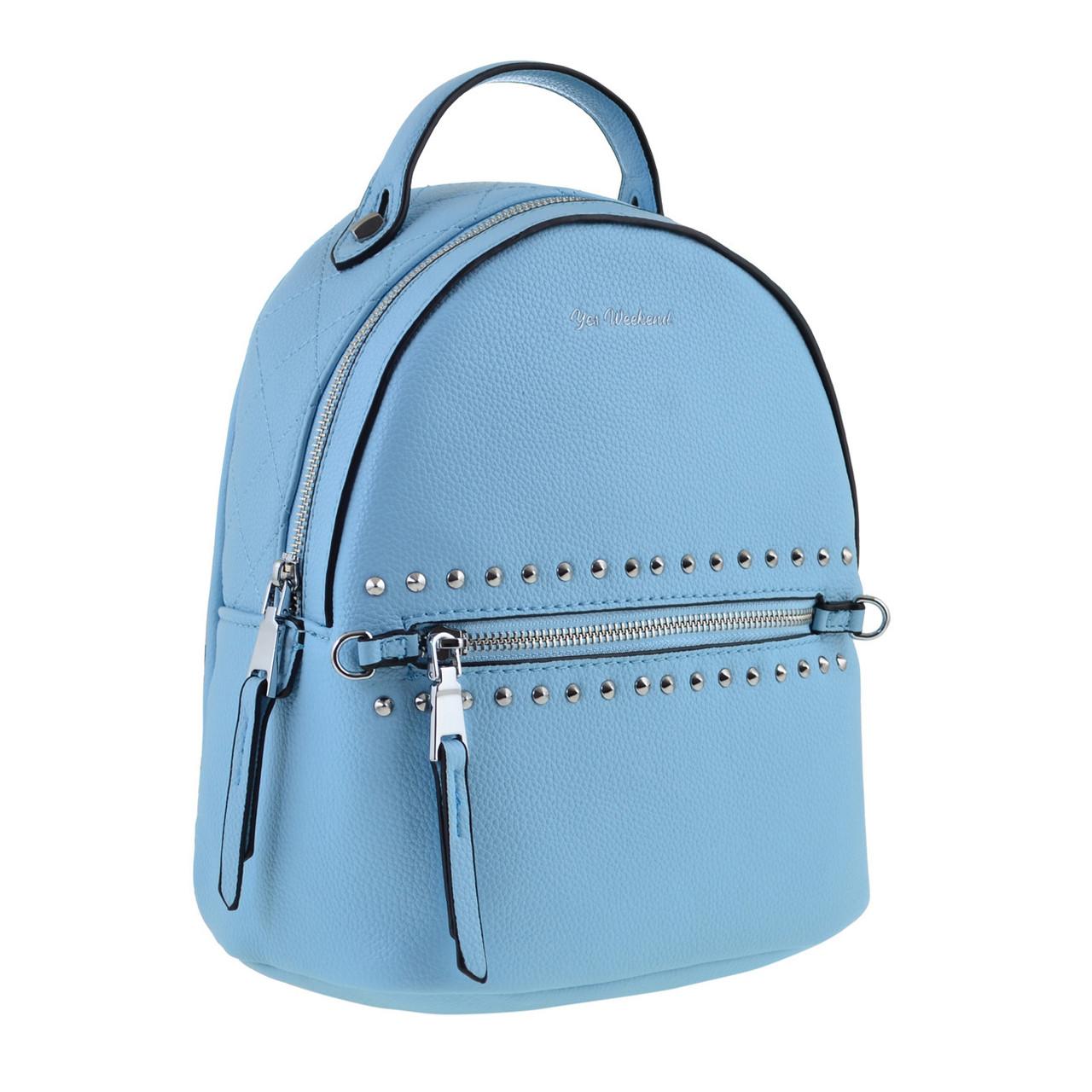 Рюкзак женский YES YW-47 «Bennito» голубой код: 557806