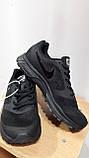 Кроссовки черные Nike vomero сетка, фото 3