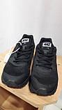Кроссовки черные Nike vomero сетка, фото 4