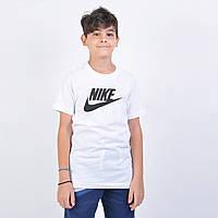 Футболка спортивная детская NIKE B NSW TEE FUTURA ICON TD белая
