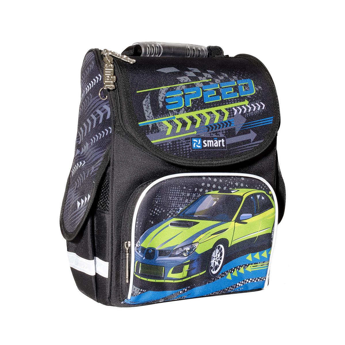 Рюкзак школьный ортопедический каркасный SMART PG-11 Speed код: 556006