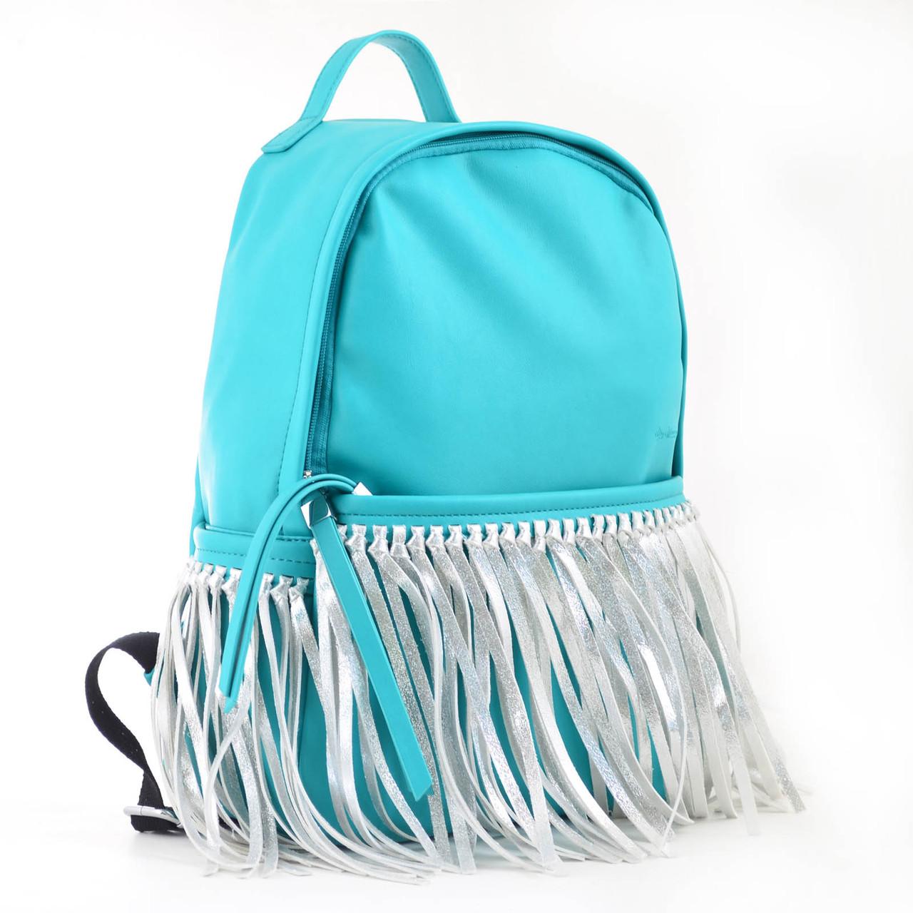 Сумка-рюкзак YES мятный с бахромой 36*26*11 код: 554197