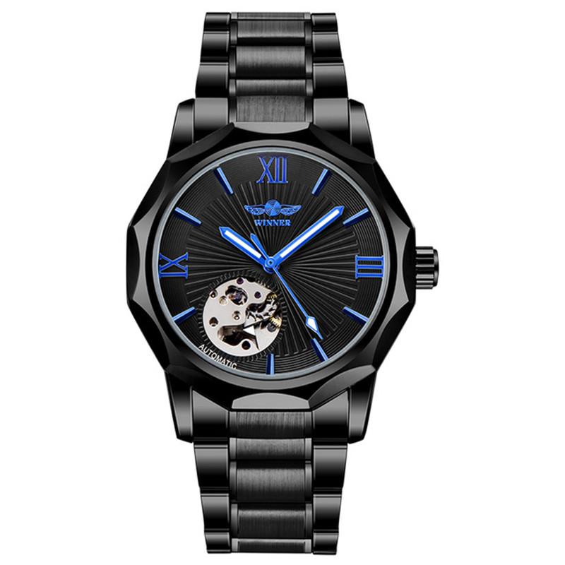 Часы мужские Winner Concept H199 Black брендовые стальные наручные механические