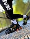 Мужские кроссовки Adidas Ozweego Black Green Orange / Адидас Озвиго Черные Зеленые Оранжевые, фото 4
