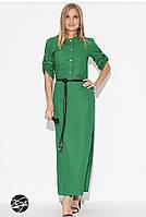 Платье женское длинное в зеленом цвете