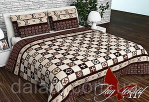 Полуторный комплект постельного белья из Ранфорса коричневый