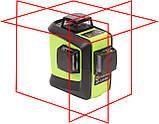 Лазерный уровень (нивелир) Fukuda 3D 93T-1 красный луч Аккумулятор 2600!, фото 2