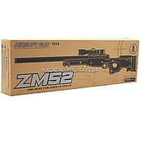 Снайперская винтовка «Airsoft Gun», черная, 115 см, дальность стрельбы 50 м, скорость 80 м/с (ZM52), фото 4