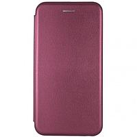 Чехол книжка для Apple Iphone XR (бордовый)