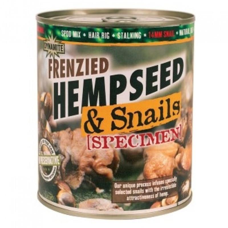 Конопля с улитками Dynamite Baits Frenzied Hempseed & Specimen Snails