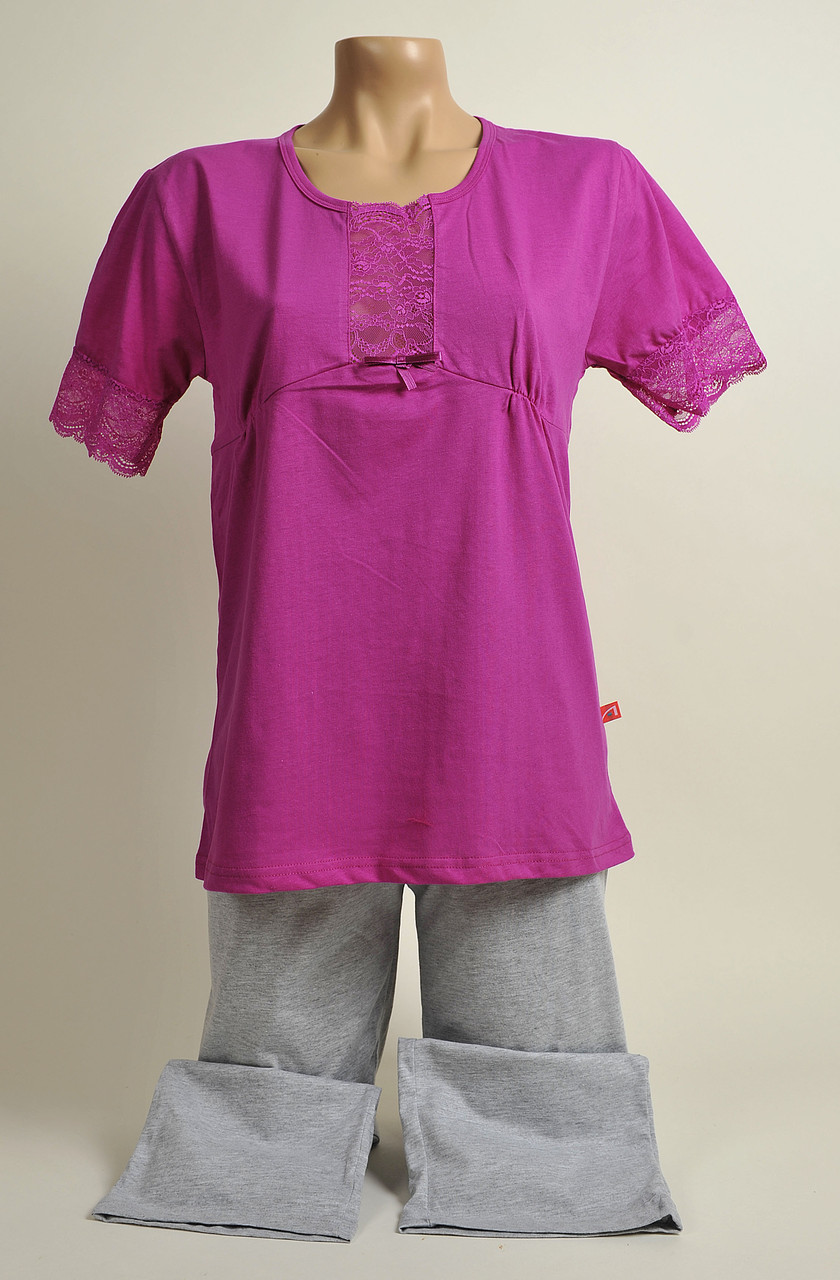 Жіноча піжама З+3 2134 S рожевий