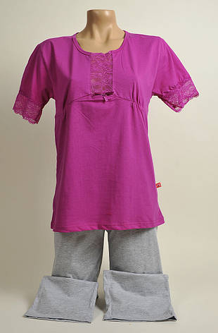 Жіноча піжама З+3 2134 M рожевий, фото 2
