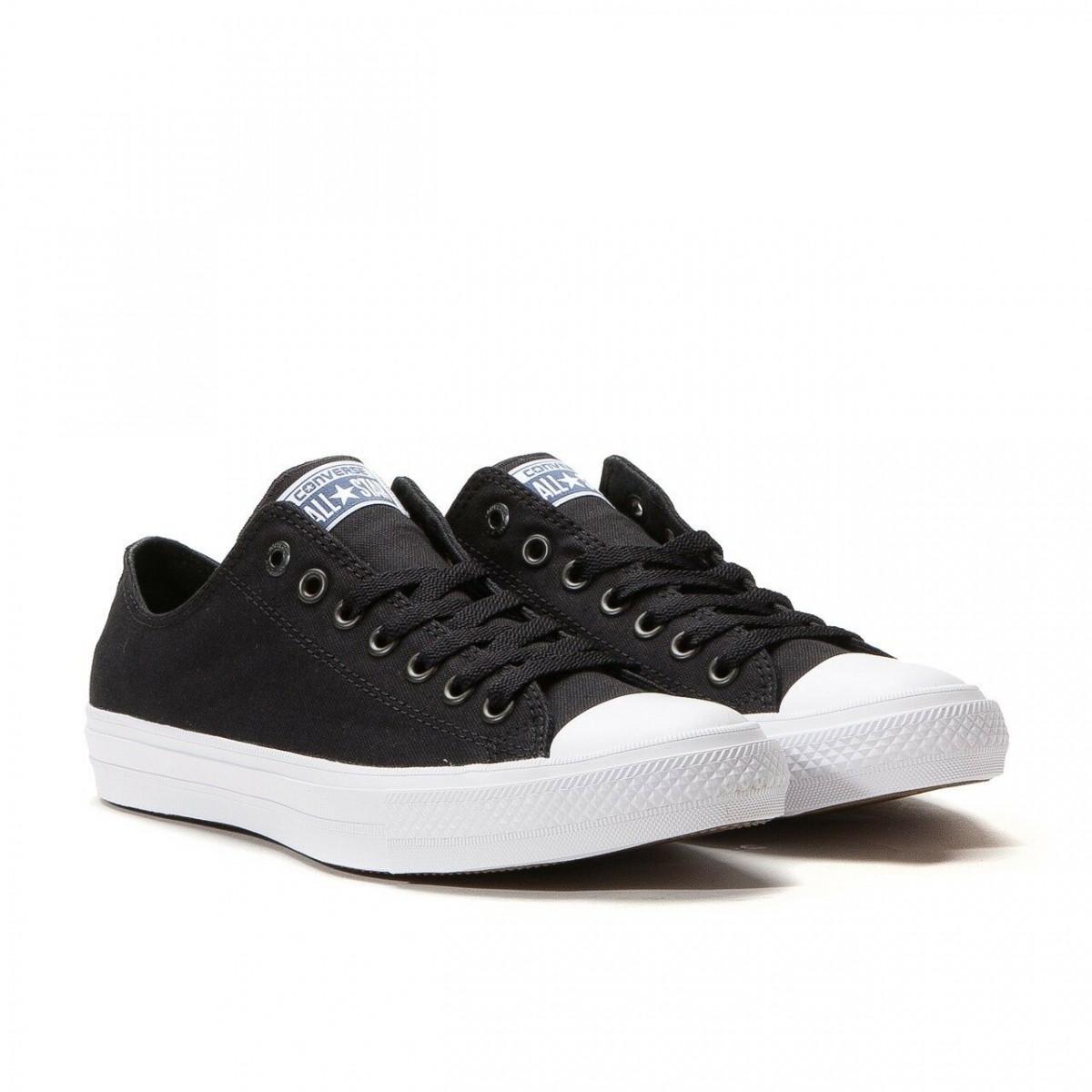 Кеды Converse Style All Star 2 низкие Черные с белым носком (40 р.) Тотальная распродажа