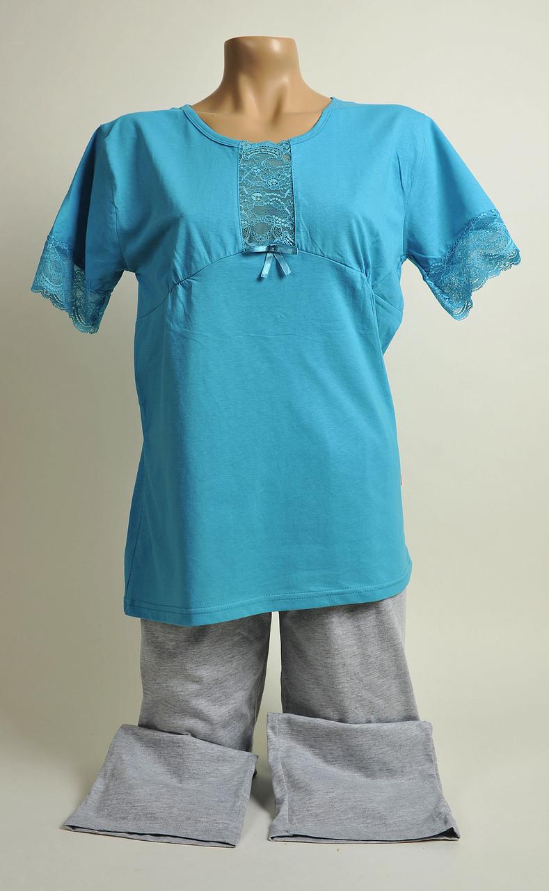 Жіноча піжама З+3 2134 M голубий