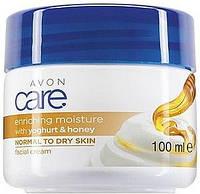 Крем для лица и тела с йогуртом и медом Avon Care 100 мл