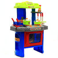 Набор детский «Кухня маленькой хозяюшки» (свет, музыка) (салатово-голубая), фото 2