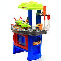 Набор детский «Кухня маленькой хозяюшки» (свет, музыка) (салатово-голубая), фото 4