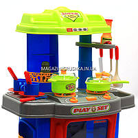 Набор детский «Кухня маленькой хозяюшки» (свет, музыка) (салатово-голубая), фото 5
