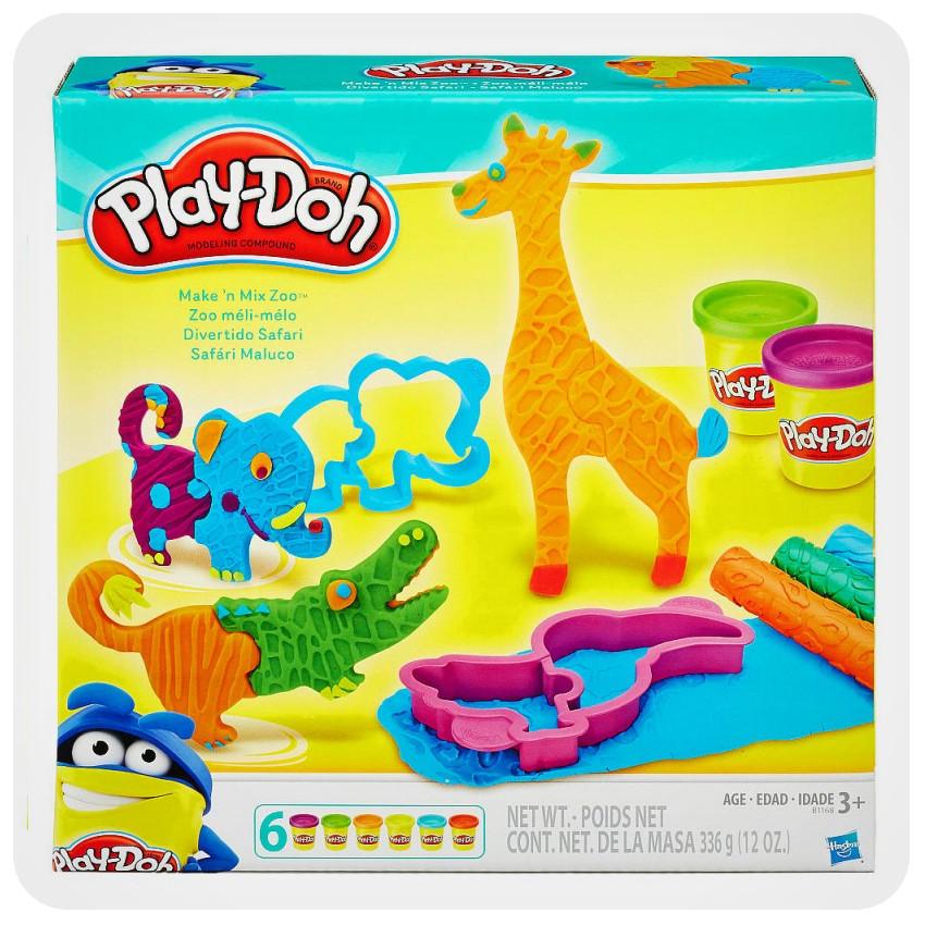 Набор для лепки Play-Doh «Веселое Сафари»