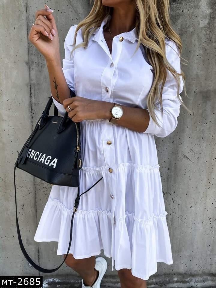 Женское стильное платье 2 цвета