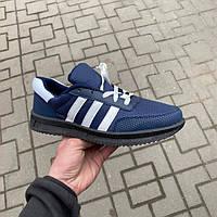 Кроссовки мужские на шнуровке синие Украина KG, фото 1