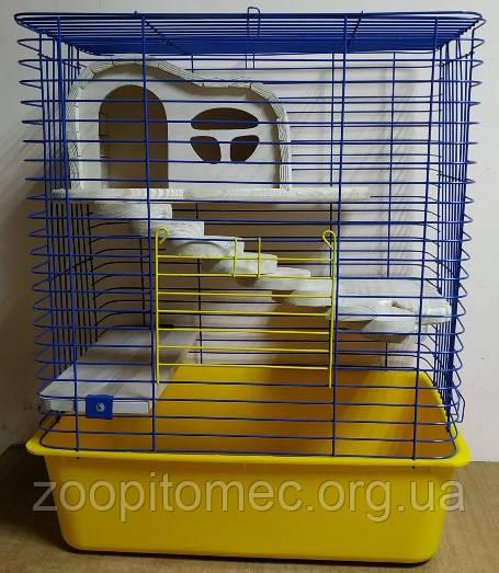 Клетка для шиншилл с деревяным домиком, 50*35*61 см