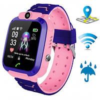 Детские Умные часы Edelin, Смарт часы с GPS WiFi Влагозащитой Smart Baby Watch Розовые