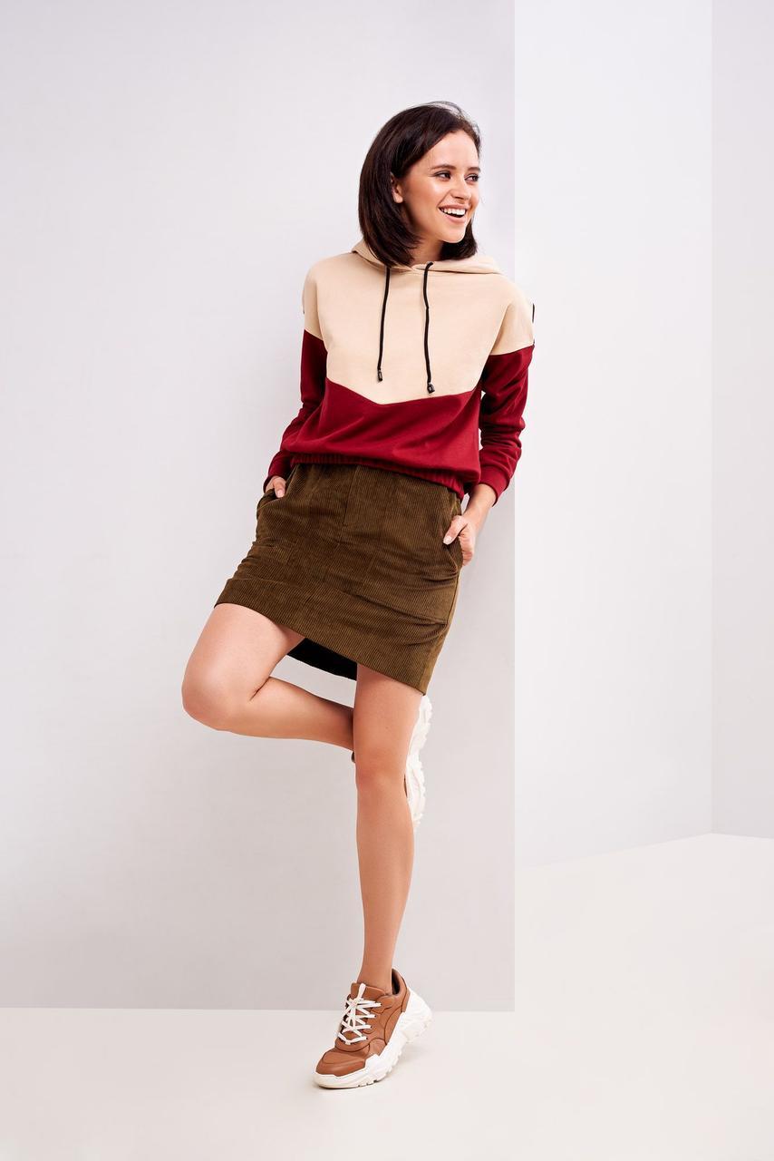 Купить Женская юбка коричневого цвета 42 размера