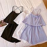 Комбинезон женский летний голубой , пудра, чёрный , молоко, фото 3