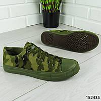 """Кеды мужские, камуфляж в стиле """"Converse"""" текстильные, кроссовки мужские, мокасины мужские, повседневная обувь"""
