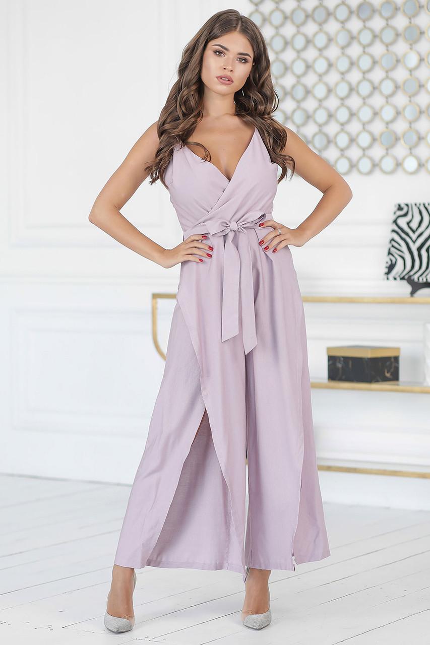 Летний сиреневый Комбинезон-платье