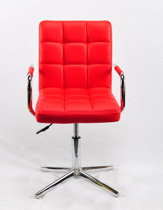 Кресло парикмахера Августо AUGUSTO - ARM ЭК красное MODERN BASE с подлокотниками