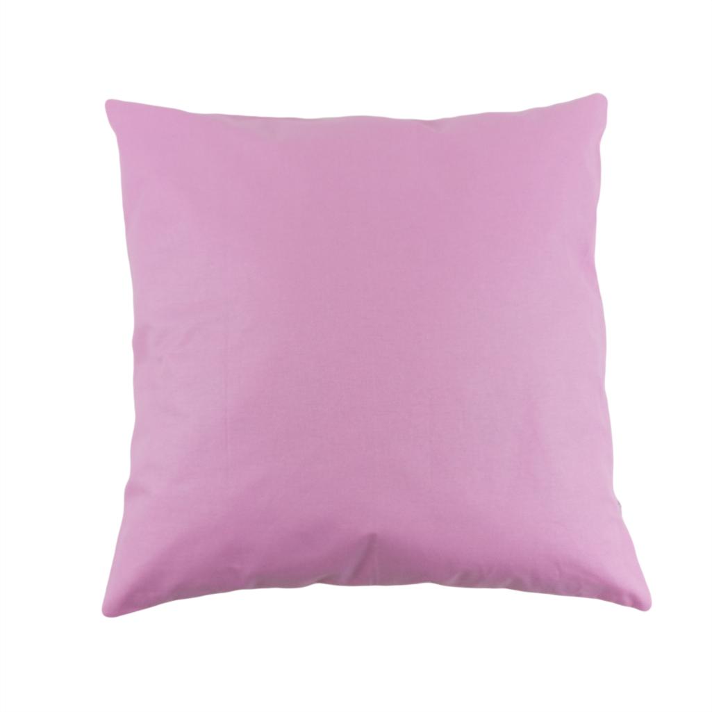 Подушка, 40*40 см, (хлопок),(розовый)