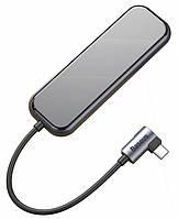 Переходник HUB адаптер BASEUS Multi-functional Type-C to 4 USB3.0 + Type-C Black