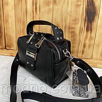 Женская стильная кожаная сумка через плечо Polina & Eiterou, фото 7