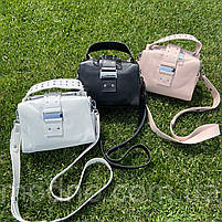 Женская стильная кожаная сумка через плечо Polina & Eiterou, фото 2