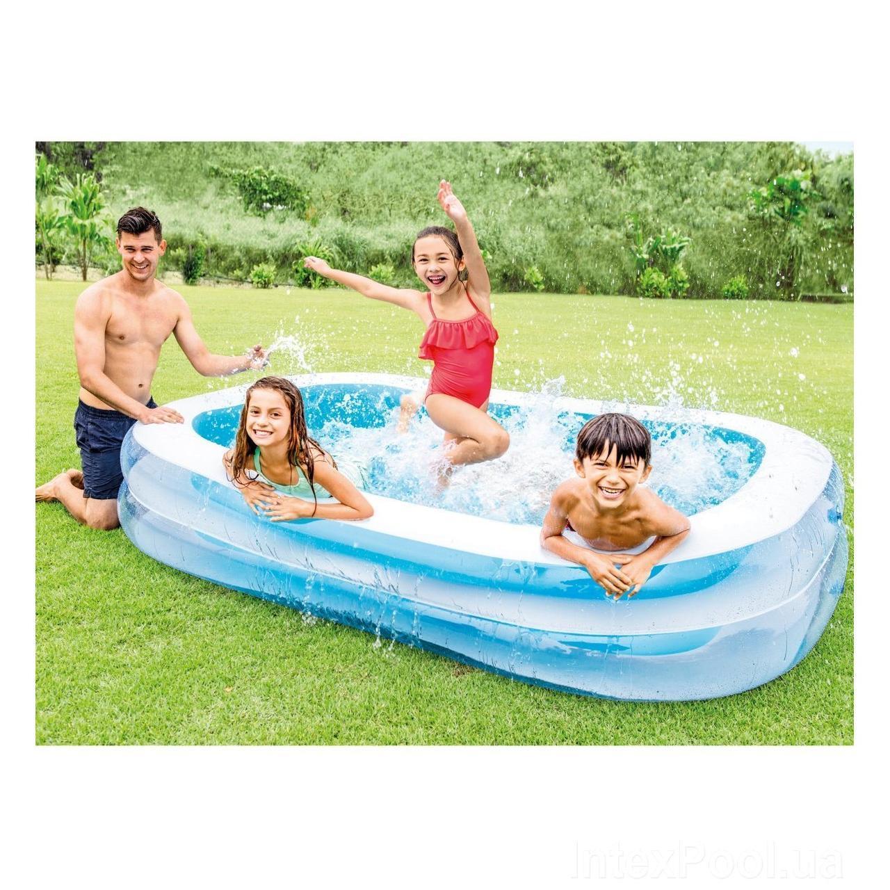 """Детский надувной бассейн прямоугольный """"Семейный"""" Intex 56483 iii"""
