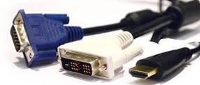 Кабелі/перехідники - HDMI/DVI/VGA/RCA/харчування/USB/SATA