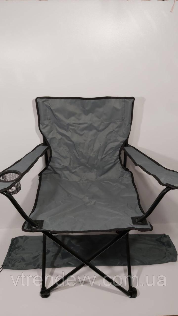 Складной стул для пикника, рыбалки Styleberg 50/50/80см 6003 Кресло раскладное Паук с подстаканником