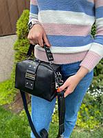 Женская стильная кожаная сумка через плечо Polina & Eiterou, фото 4