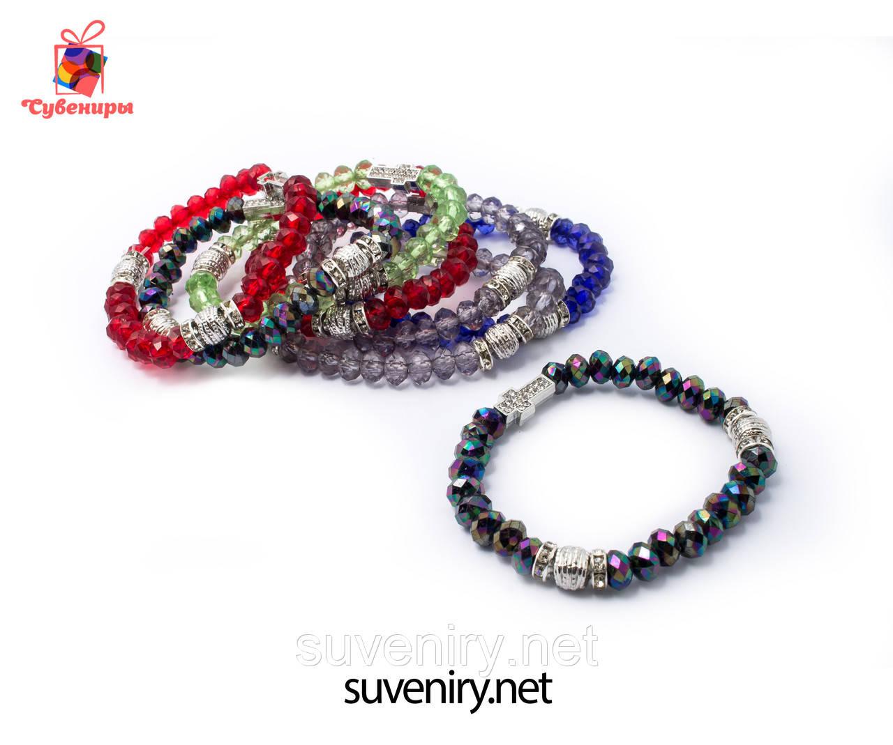 Женские красивые браслеты на руку с крестиком