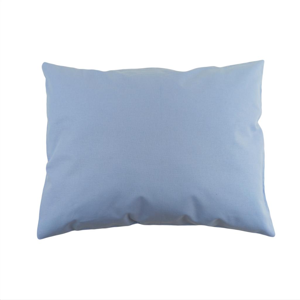 Подушка, 45*35 см, (бавовна), (темно-блакитний)