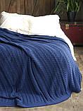 Покрывало вязаное  170x240 BETIRES bremen navy blue, фото 2